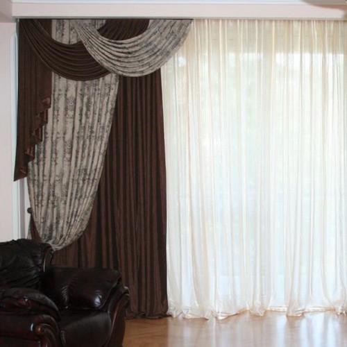 Комбинированные шторы, ателье в Самаре