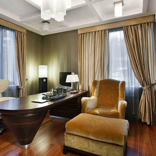 Классические шторы в кабинет, индивидуальный пошив в Самаре
