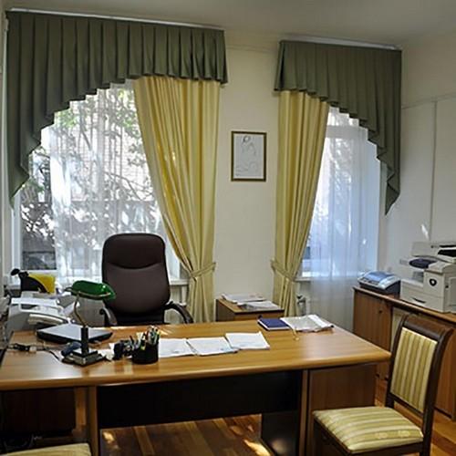Шторы для кабинета директора, индивидуальный пошив в Самаре