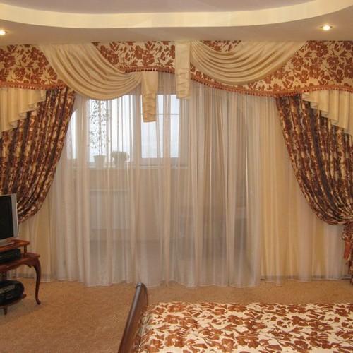 Драпированные шторы с подхватом, Самара, пошив на заказ